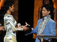 Unforgettable from Prince: A Life in Pictures  Prince presented Halle Berry with an NAACP Award in 2011