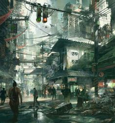 A city is more than a place in space, it is a drama in time. Street Scene by Theo Prins