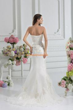 Robe de mariée bustier élégant d'organza de sirène Matériel bon marché