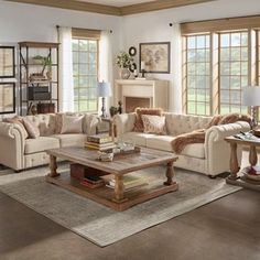 Knightsbridge Beige Fabric Button Tufted Chesterfield Room Set by iNSPIRE Q Artisan (Sofa + Loveseat + Cocktail End Tables + 2 Lamps) Formal Living Rooms, Living Room Sets, Home Living Room, Living Room Designs, Living Room Decor, Living Spaces, Tufted Sofa, Chesterfield Sofa, Loveseat Sofa