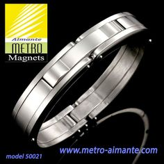 Upgrade your look with this outstanding Handcuff style men's bracelet, featuring a solid, shiny silver design, beautifully crafted in quality stainless steel.