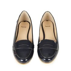 J by Jasper Conran Navy patent leather loafer trim pumps- at Debenhams Mobile