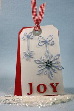 Beautiful memory box die. Precious snowflakes.