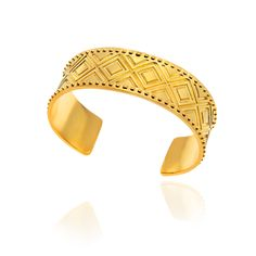 Princesses of the Mediterranean band bracelet in silver gold plated.
