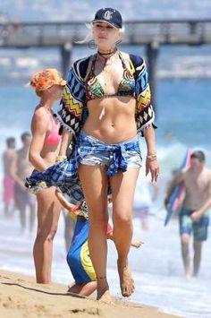 Gwen Stefani, 47, Brings Her Boho Bikini Style (and Abs!) to the Beach