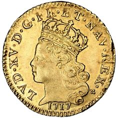 French Royal coins, Louis XV, 1/4 Louis d'or de Noailles
