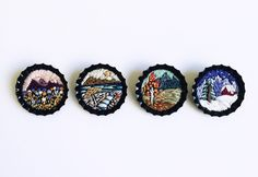 Baobap Miniature Embroidered Brooches Irem Yazici's tiny, hand-embroidered vignettes are not your average flair  baobap-mini-brooch-01.jpg