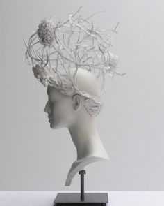 Chanel haute couture headdress by Katsuya Kamo made of flowers and thorns. Body Adornment, Recycled Fashion, Fashion Art, Fashion Design, Hair Art, Headdress, Wearable Art, Flower Art, Hair Pins