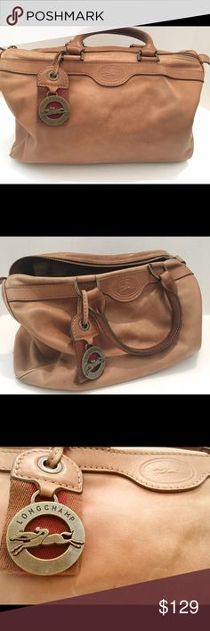 Longchamp vintage leather bag Stunning soft leather few tiny stains and signs of worn overall good condition no holes Bags
