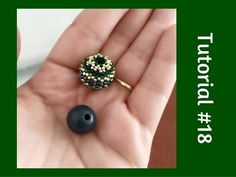 TUTORIAL PERLINE [18] - Chicca Bead, sfera rivestita con perline. (Beaded Bead tutorial). Link download: http://www.getlinkyoutube.com/watch?v=A_qYYnp68Vo