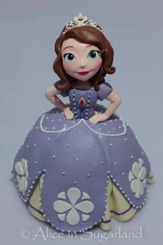 Princess Sofia Cake...this is exactly what I had in mind!