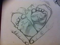 Meaningful tattoos - how baby& feet draw Best Meaningfu . - Meaningful tattoos – like baby& feet drawing Best Meaningfu … – Mean - Feet Drawing, Baby Drawing, Painting & Drawing, Drawing Board, Pencil Art Drawings, Cute Drawings, Drawing Sketches, Sketching, Pencil Drawing Tutorials