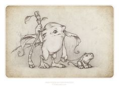 We made a brand new art picture for you, it's a picture of a Runnerbean and his pet snifflehog. Runnerbeans are wee wild forest picsees and as you could. a Runnerbean and a Snifflehog Fairy Drawings, Fantasy Drawings, Fantasy Art, Magical Creatures, Fantasy Creatures, Illustrations, Illustration Art, Bd Art, Elves And Fairies