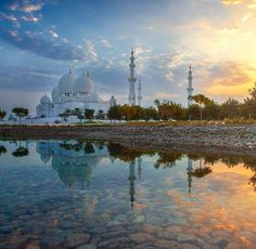 """Sheikh sated mosque was a dream in heart of the late sheikh zayed bin sultan Al-Nahyan """"May God rest this soul """" where he established its general vision."""