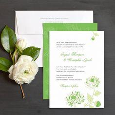 Delicate Mums Wedding Invitations by Elli