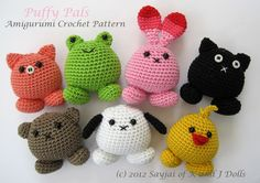 Puffy Pals Amigurumi Crochet Pattern (PDF). $3.99, via Etsy.