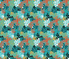 colorful splatters fabric by tukkki on Spoonflower - custom fabric