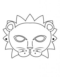 Lion Mask coloring page. Let your imagination soar and color this Lion Mask coloring page with the colors of your choice. Print out more coloring pages . Pj Masks Coloring Pages, Animal Coloring Pages, Coloring Pages For Kids, Coloring Sheets, Kids Coloring, Animal Face Mask, Animal Masks, Face Masks, Masquerade Mask Template
