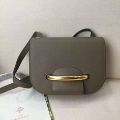 2017 Spring Mulberry Selwood Satchel Bag Clay Small Classic Grain Leather