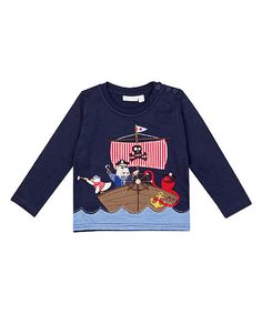 Another great find on #zulily! Navy Animal Pirate Top - Infant, Toddler & Boys #zulilyfinds