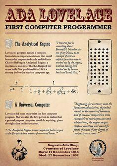 """Ada Lovelace: First Computer Programmer"" by AdaLovelaceDay | Redbubble"