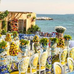 in Cannes 🍋 A whimsical Tropico-italiano prewedding celebration that lefts us in awe 😍 Head over to our InstaStory and… Wedding Table Centerpieces, Wedding Decorations, Lemon Centerpieces, Italian Wedding Themes, Italian Themed Parties, Sicily Wedding, Lebanese Wedding, Lemon Party, Mediterranean Wedding
