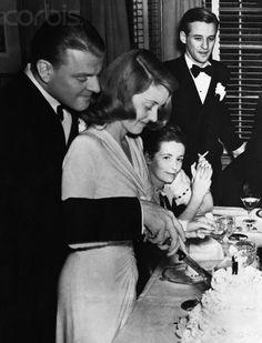 Bette Davis & Arthur Farnsworth wedding, 1941 - her second marriage. 1941-43
