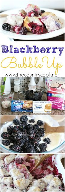 Blackberry Bubble Up recipe from The Country Cook. One of the best desserts I've made in a while. I've even used raspberries and blueberries and it still turns out amazing!!