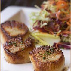 Black pepper seared scallops. From our Gluten Free menu.