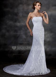 Wedding Dresses - $172.99 - Trumpet/Mermaid Sweetheart Chapel Train Lace Wedding Dress (002000513) http://jenjenhouse.com/Trumpet-Mermaid-Sweetheart-Chapel-Train-Lace-Wedding-Dress-002000513-g513