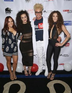 Murray SawChuck with the ladies of Gar Entertainment at his 100,000 YouTube Silver Creator Award Party in Las Vegas (Photo credit: Gabe Ginsberg / Getty Images for Murray SawChuck)