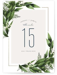 Diamante Foil-Pressed Table Numbers