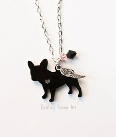 French Bulldog Art French Bulldog Dog Jewelry by BrittanyFarinaArt