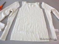 Make a little girls dress from an old sweater