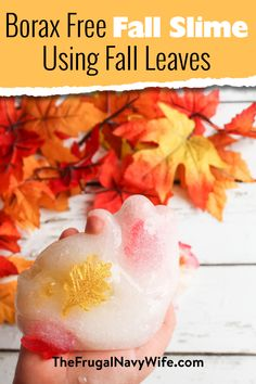 My kids love slime sometimes a little much. We are getting ready for fall so made this borax free fall slime. It's super easy and fun! #slime #frugalnavywife #fall #autumn #kidsactivity #slimerecipe  | Easy Kids Activity | Slime Recipe | Fall Kids Activity | Borax Free Slime | Fall Kids Activities | Fall Leaves Activities | Easy Kids Crafts | Easy Slime How To Autumn Activities For Kids, Easy Crafts For Kids, Free Activities, Sensory Activities, Rainy Day Crafts, Fall Crafts, Diy Halloween Food, Free Slime, Different Holidays