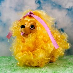 Cute Golden Poodle Puppy Dog Toy Hasbro Vintage 1989 Sweetie Pups Fun Gift | eBay