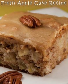 FRESH APPLE CAKE RECIPE – Delicious recipes to cook with family and friends.