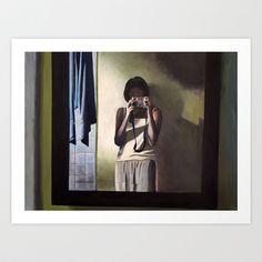 Mirror, Art Print by Helena Hsieh