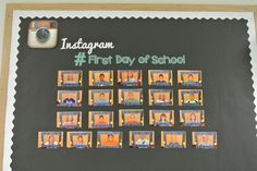 #FirstDayofSchool - Instagram Inspired B2S Bulletin Board