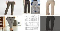 COMO HACER UN PANTALON LEVANTA COLAS - Escuela de costuras Diy Fashion, Suits, Pants Pattern, Red Gowns, Hemline, Suit, Wedding Suits