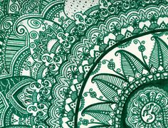 om mandala design I really like. Love the dark jade color...