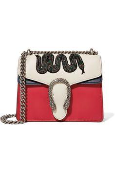 GUCCI Dionysus mini appliquéd leather shoulder bag
