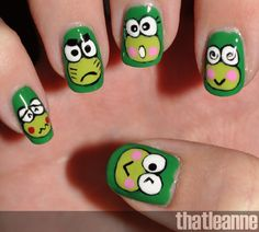 thatleanne Keroppi #nail #nails #nailart