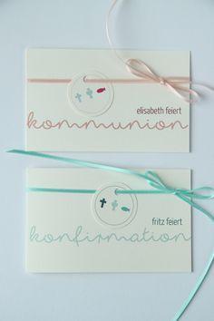 Einladungskarten - Einladung zur Konfirmation / Kommunion - KELCH - ein Designerstück von creartivbox bei DaWanda