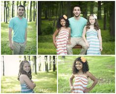 sibling pictures.  love the coordinating colors and the individual poses.  CUTE!