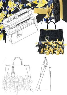 New Fashion Sketches Paris Ux Ui Designer 61 Ideas Fashion Sketchbook, Fashion Sketches, Fashion Drawings, Fashion Bags, Trendy Fashion, Fashion Models, Drawing Bag, Bag Illustration, Illustrations