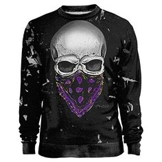 Blowhammer Men's Sweatshirt Luksl Grunge Gangsterr Skull Squad T-Shirt... ($54) ❤ liked on Polyvore featuring men's fashion, men's clothing, men's shirts, men's t-shirts, mens skull shirts, mens skull t shirts and mens t shirts