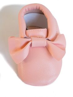 Light Pink Bow Moccasins