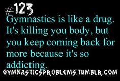 Gymnastics addiction