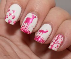 Nail Art Sunday, The Nail Challenge Collaborative, Pink Autumn, BP-L011, Zoya Purity, Hit The Bottle Psycho Pink